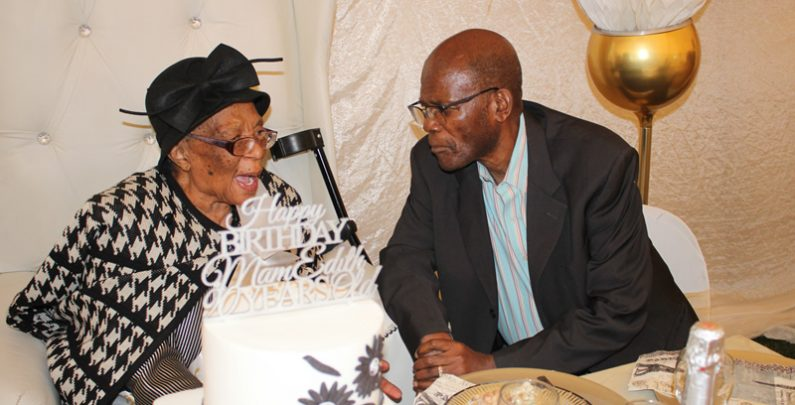 Mama's 90th birthday with the late Comrade Zola Skweyiya