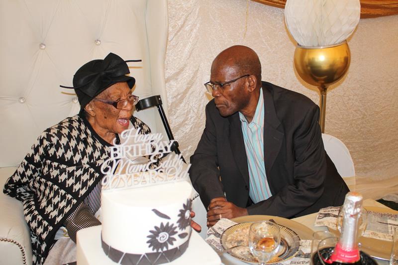 Mama's 90th birthday with the late Comrade Zola Skweyiya